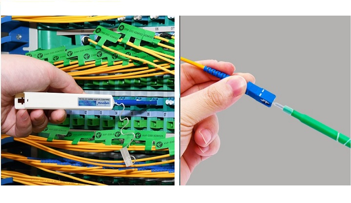 TOC125&250 optical connector one-click cleaner makes your network easy